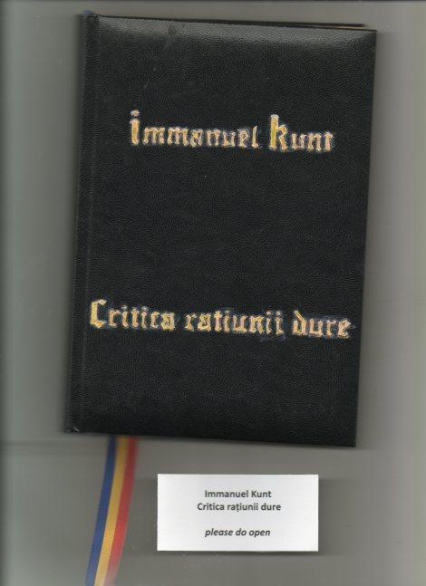 Immanuel Kunt, Critica ratiunii dure, coperta