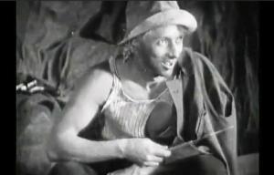 """Max Ernst, în rolul căpeteniei bandiților, """"L'âge d'or"""" (Luis Buñuel, 1929)"""