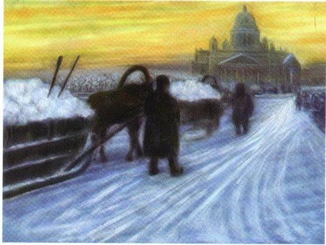 8. August Baillayre, Santk-Petersburg iarna