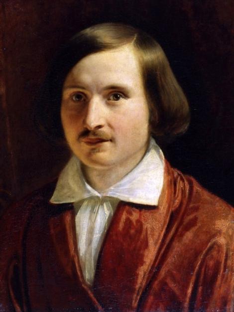 """Feodor Moller, """"Portretul lui N.V. Gogol"""", 1840. Sursa: museum.ru"""