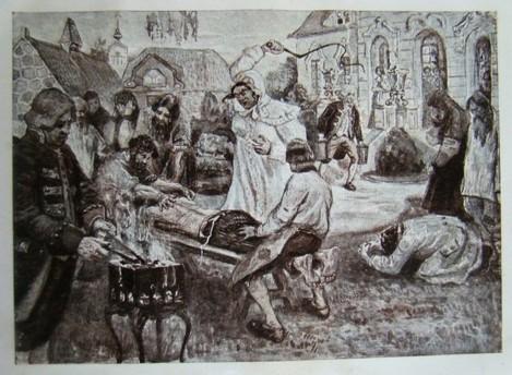 """Saltîciha"", gravură de P. Kurdiumov și Ivan Sîtin (1910)"