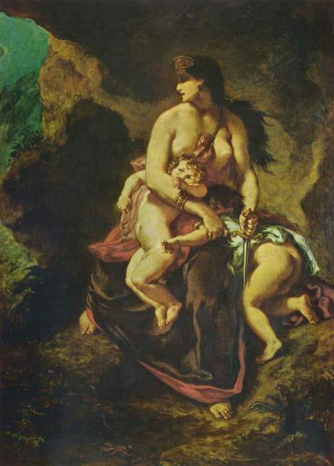 """Medeea"" (1862) de Eugène Delacroix"