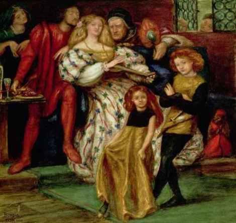 """""""La famiglia Borgia"""", de Dante Gabriel Rossetti (1863)"""