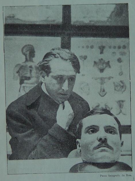 "Fig. 1: a) F. Brunea, Requiem (1927), poem fotografic, publicat în ""Integral"", Nr. 11, An. III, februarie-martie, p. 12."