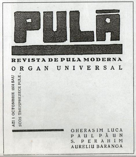 Fig. 2: Pulă, coperta revistei, 1 octombrie 1931.