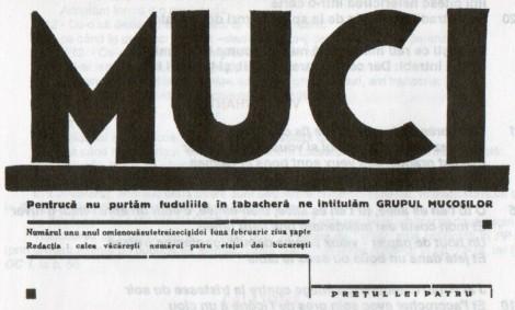 Fig. 4: Muci, frontispiciu coperta revistei, Nr. 1, 7 februarie 1932.