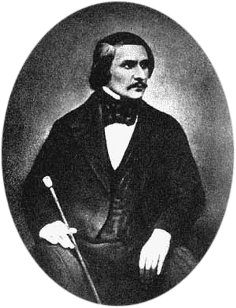 Serghei Lvovici Levițki, N.V. Gogol, 1845. Dagherotip.