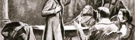 """""""Cearta slavofililor cu europeniștii"""" (1844), Sursa: allomir.com"""