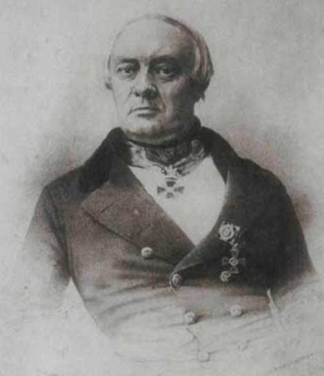"""""""Stepan Petrovici Şevîrev"""" (mijlocul secolului al XIX-lea), litografie, autor necunoscut."""