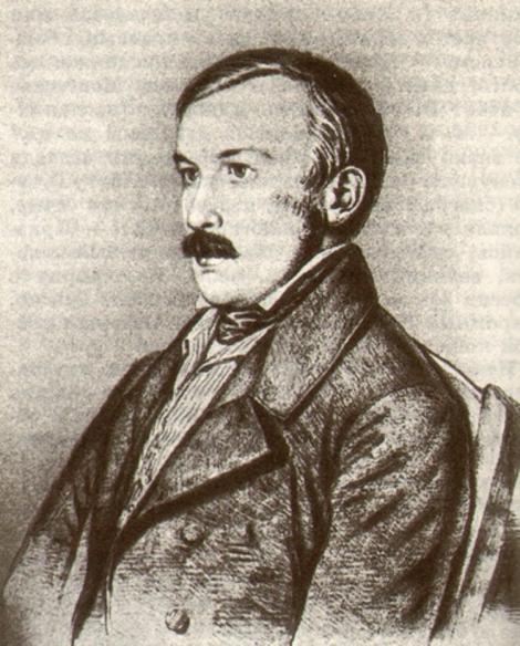 """Portretul lui Aleksandr Petrovici Tolstoi (1840), publicat în revista """"Prometeus"""", 1990, № 16, - Moscow, p. 262"""