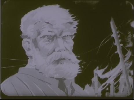 "Fig. 10: Cadru 10, subiect f. ""Expoziția lui Jules Perahim"" din ""Jurnalul sonor ONC nr. 13 / 1945"", film, 35 mm, a/n, Documentar, România, ANFR, 1945, Producător: ONC. Prin amabilitatea Cinematecii Române – Arhiva Naționale de Filme din România © 2013."