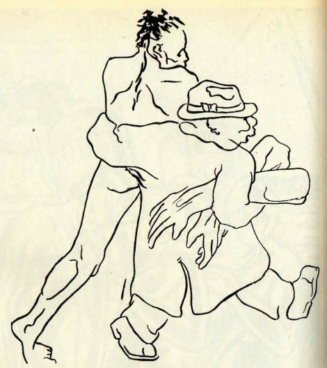 """Fig. 11: """"Brațe de muncă"""", Jules Perahim, 1934, imagine publicată în """"Cuvântul liber"""" și reprodusă în Cronică ilustrată a unei lumi apuse (Editura Politică, 1959), p. 176."""