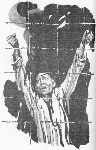 """Fig. 17: """"Nepokronennîie"""" [""""Neînfrânții""""], ilustrație de Igor Leonidovici Ușakov, 1985, la romanul omonim al lui Boris Leontievici Gorbatov, Editura ziarului """"Pravda"""", Moscova, 1985."""