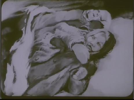 "Fig. 8: Cadru 8, subiect f. ""Expoziția lui Jules Perahim"" din ""Jurnalul sonor ONC nr. 13 / 1945"", film, 35 mm, a/n, Documentar, România, ANFR, 1945, Producător: ONC. Prin amabilitatea Cinematecii Române – Arhiva Naționale de Filme din România © 2013."