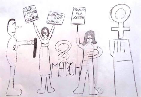 Desen al elevilor profesorului Laurențiu Ridichie